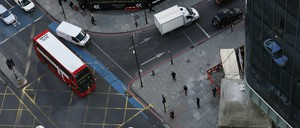 Traffic in London.