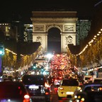 Traffic on Paris's Champs-Elysees.