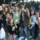 The TikTok stars Joe Waud and Payton Moormeier pose with fans at VidCon 2019.