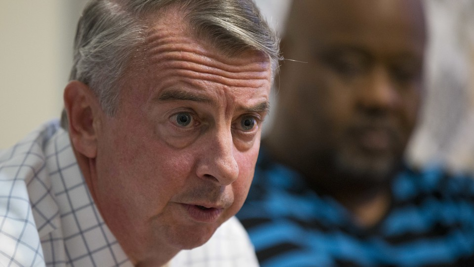 Virginia gubernatorial candidate Ed Gillespie speaking at a campaign event