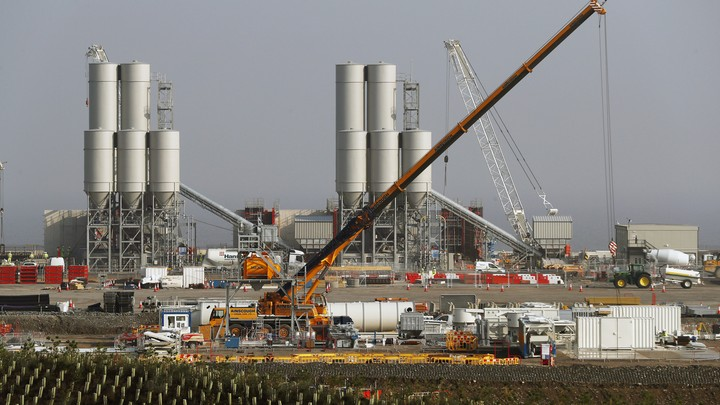 Hinkley Point C nuclear power station site in Britain.