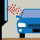 An illustration of a car in a pharmacy drive-thru window.