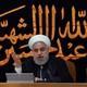 Hassan Rouhani speaks in Tehran.