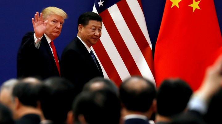 Donald Trump and Chinese President Xi Jinping in 2017