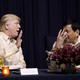 President Trump talks with Philippines President Rodrigo Duterte.