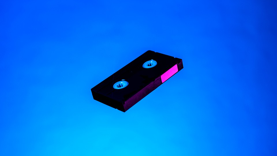 A VHS tape