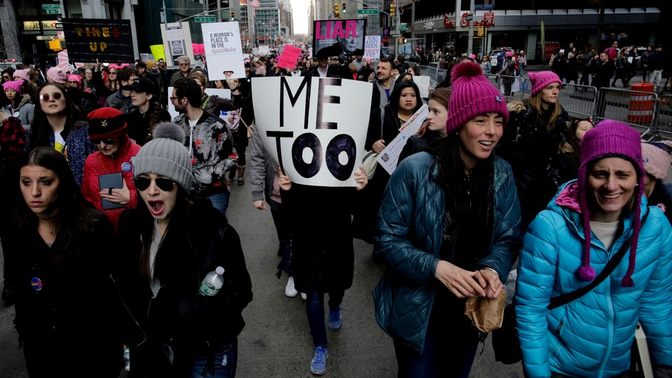 Protesters in New York City's Women's March