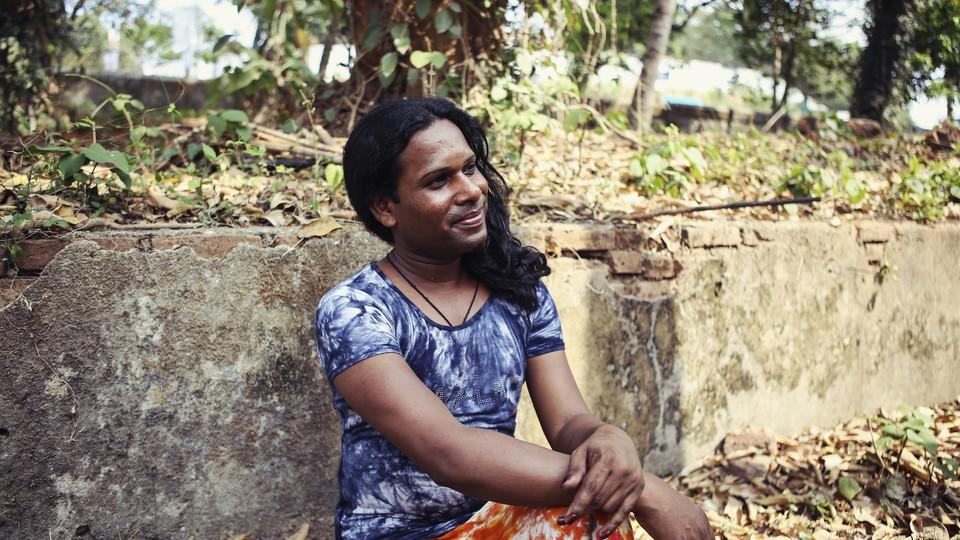 Faisal, one of the transgender residents at Sahaj, a school-turned-shelter in Kerala, India.