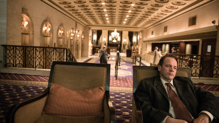 Peter Sarsgaard stars as Frank Olson, an army biologist who died in 1953, and the subject of Errol Morris's Netflix documentary 'Wormwood'