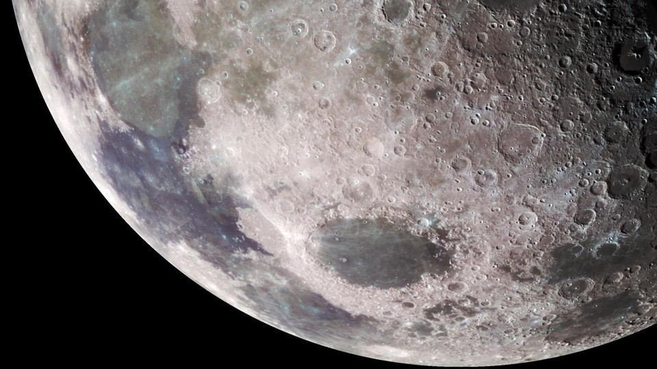 The surface of the moon