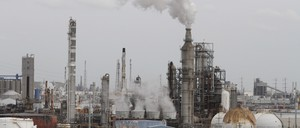An oil refinery and storage facility is pictured south of downtown Houston January 30, 2012.