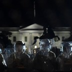 photo: Police line up outside the White House in Washington, D.C. as protests against the killing of George Floyd continue.