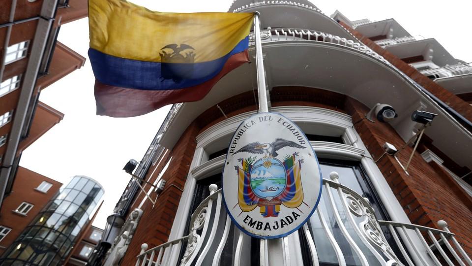 The Ecuadorian Embassy in London, where Julian Assange has lived since 2012.