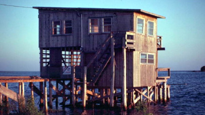A home on stilts above a body of water
