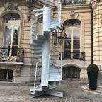Stairs from the Eiffel Tower, to be auctioned in Paris.