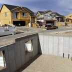 A photo of a new subdivision under construction in South Jordan, Utah.