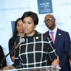D.C. Mayor Muriel Bowser addresses the homelessness crisis on Thursday.