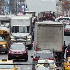 Traffic on 42d St. in New York City.