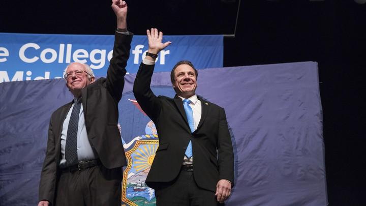 Bernie Sanders and Andrew Cuomo