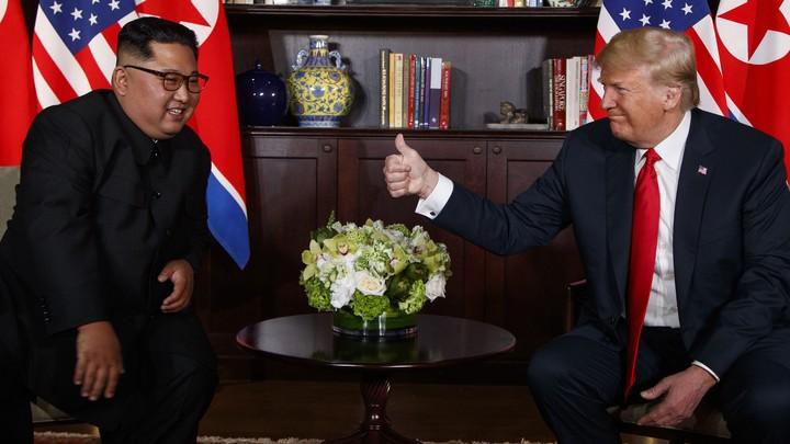 President Trump gives North Korean Leader Kim Jong Un a thumbs up