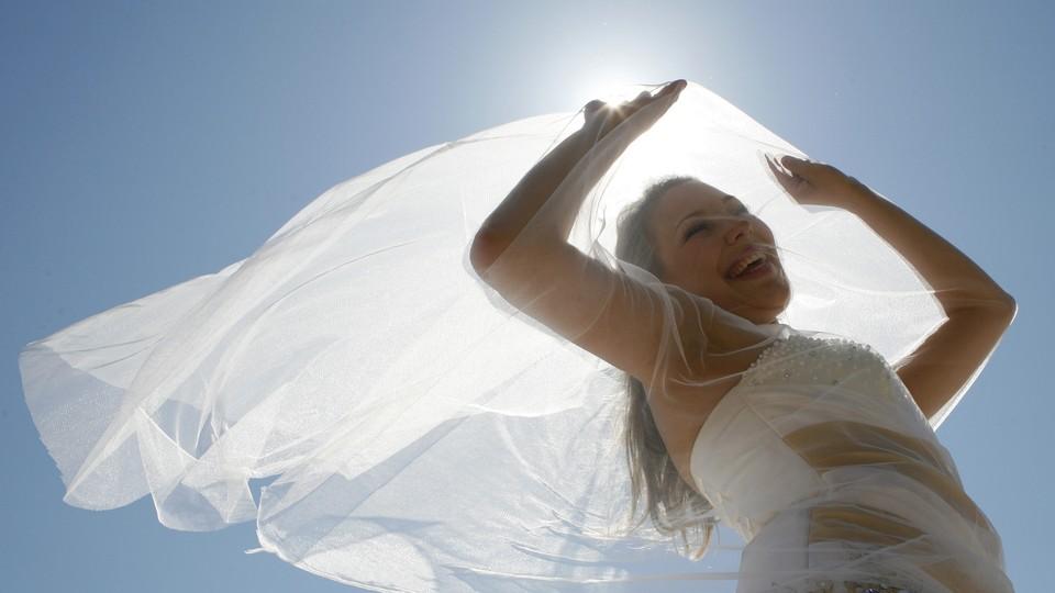 "A ""Parade of Brides"" in Krasnoyarsk, Russia, in 2010"