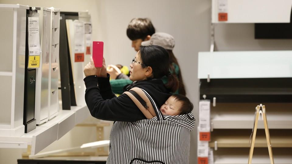 An IKEA customer in South Korea