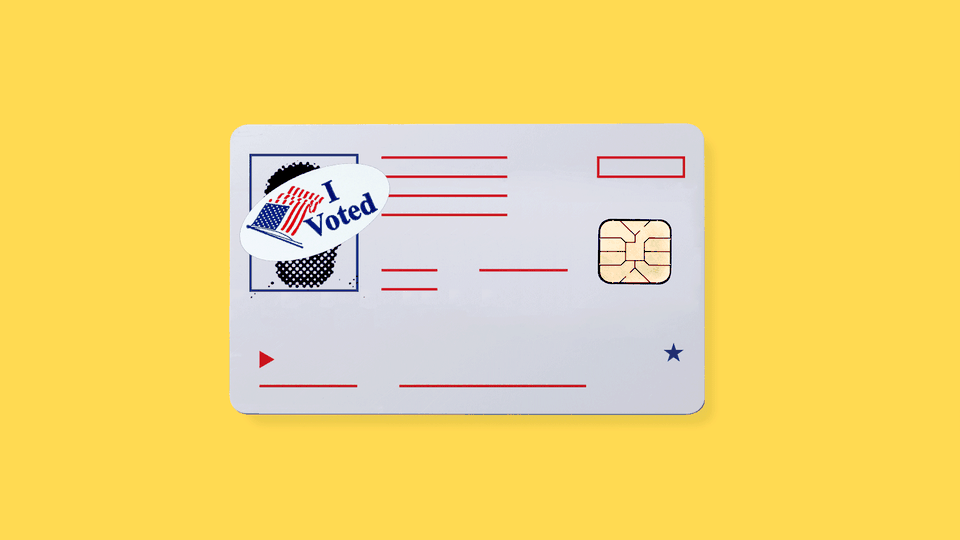 A mock-up of a national voter-ID card