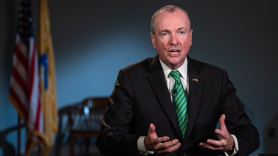 Governor Phil Murphy speaking to the camera
