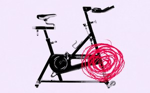 stationary bike with scribble