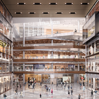 A rendering of the Neiman Marcus inside The Shops at Hudson Yards