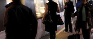 photo: passengers in D.C.'s Metro