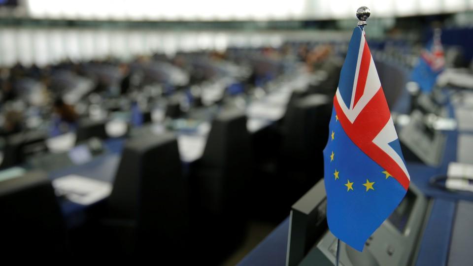 A Britain/Brexit flag