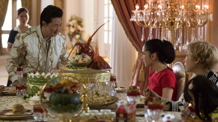 A dinner-table scene from 'Crazy Rich Asians'