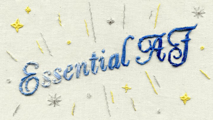 "Embroidery of the phrase ""Essential AF"""