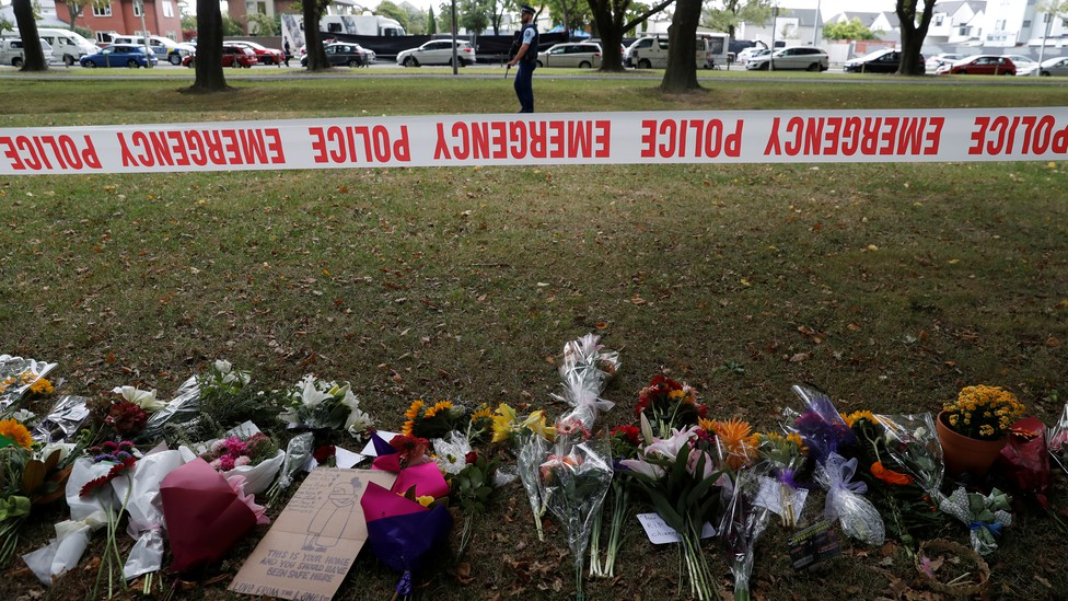 A memorial for the victims of the mosque attacks