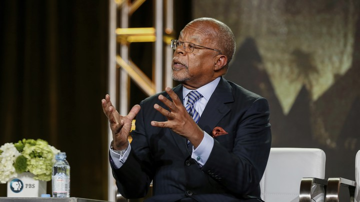 Henry Louis Gates Jr. speaking on a panel