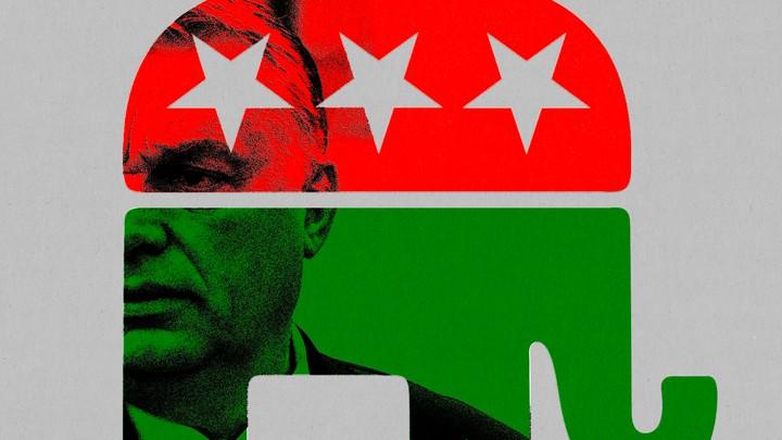 An illustration of Viktor Orbán
