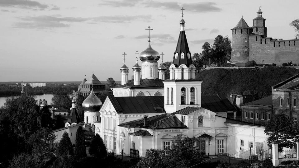 An Orthodox church on a hill