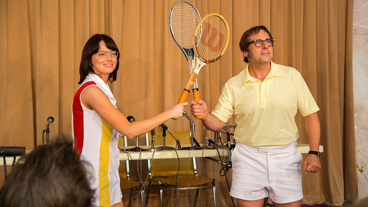 Emma Stone and Steve Carrell in 'Battle of the Sexes'