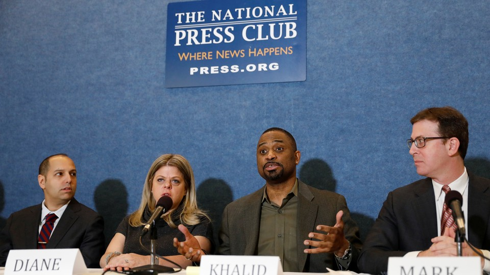 Diane Gross and Khalid Pitts, the owners of Cork Wine Bar in Washington, D.C., are suing the Trump International Hotel for unfair business practices.