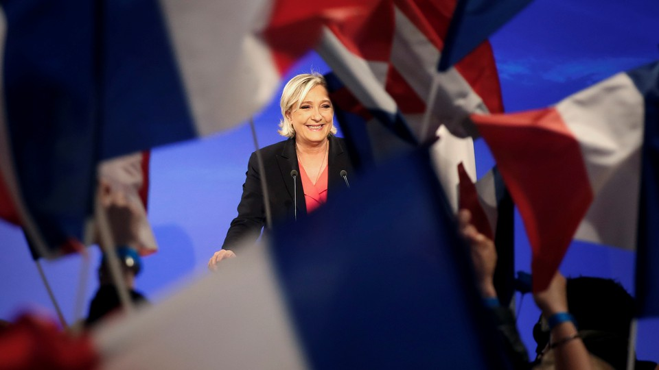 Marine Le Pen concedes defeat in the French presidential elections.