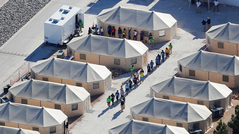 A tent camp for immigrant children near the southern U.S. border