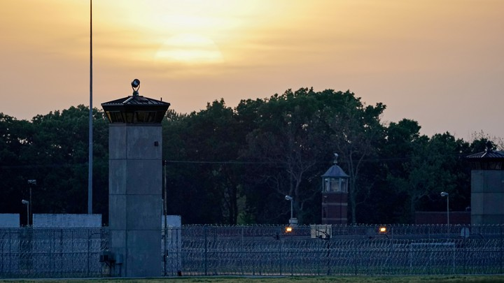 A sunset at a federal corrections complex