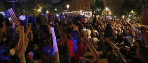 Protesters in St. Louis on Friday.