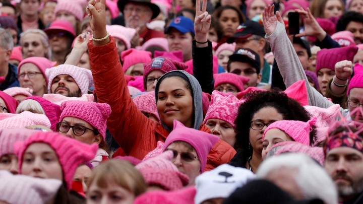 Participants in January's Women's March
