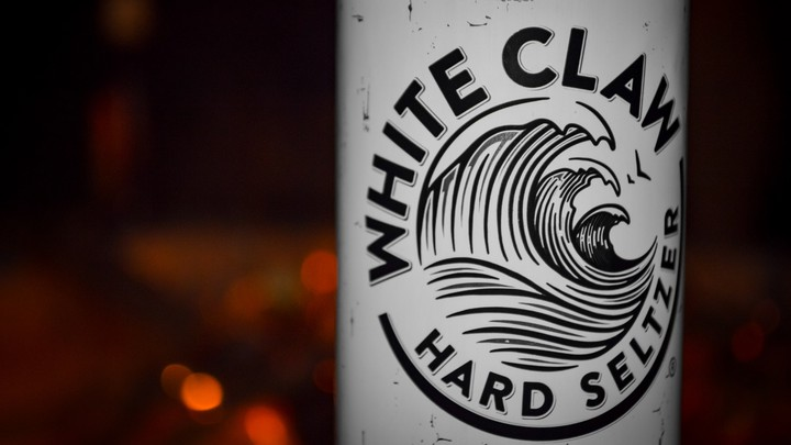 A can of White Claw Hard Seltzer