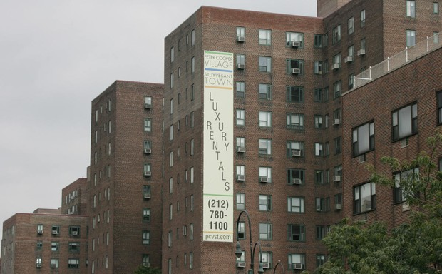 Brick apartment buildings in Stuyvesant Town, New York City
