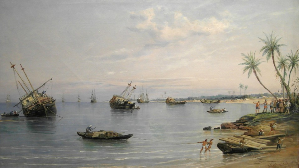 Ships in water being scuttled