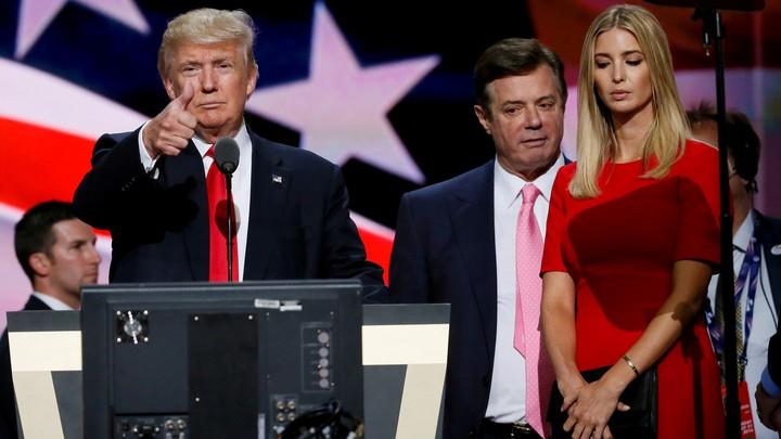 Donald Trump, Paul Manafort, and Ivanka Trump at the Republican National Convention