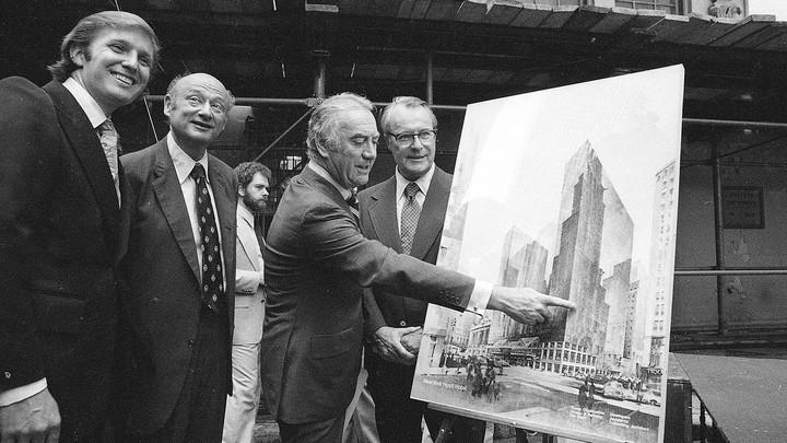Donald Trump, Ed Koch, Hugh Carey and Robert T. Dormer